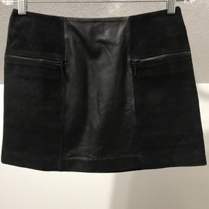 Urban Outfitters Suede Panel 100% Leather Skirt